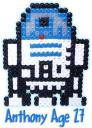 R2D2 in Perler Beads