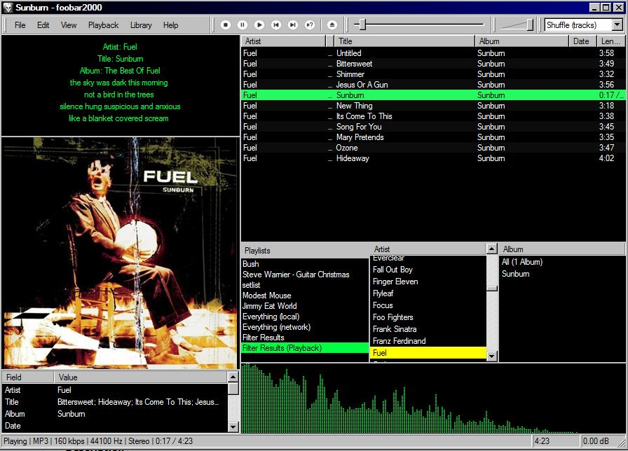 Foobar2000 Lyrics Plugin